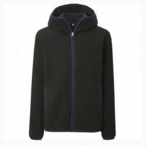 Кофта Uniqlo Men Fleece Full-Zip Hoodie BLACK