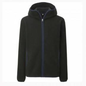 Кофта Uniqlo Men Fleece Full-Zip Hoodie BLACK, фото 2