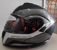 Мото шлем модуляр трансформер MT Atom, фото 1