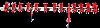 Апарат висів. лів./прав. СЗ (СЗГ 00.2420А/00.2430А)- (порошок), МЕТ-КЕРАМ.
