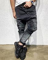 Джинсы молодежные мужские черные