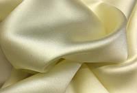 Ткань атлас однотонный сливочный (портьера)