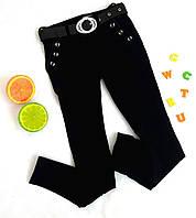 Школьные брюки на девочку, на байке, р. 32 черный