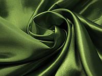 Ткань атлас однотонный хаки (портьера)