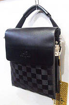 Черная бизнес - сумка для мужчин размер 16 х 21 см