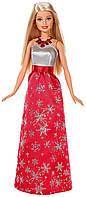Кукла Барби Праздничная в красном платье со снежинками Barbie Holiday 2017 Doll in Snowflake Dress