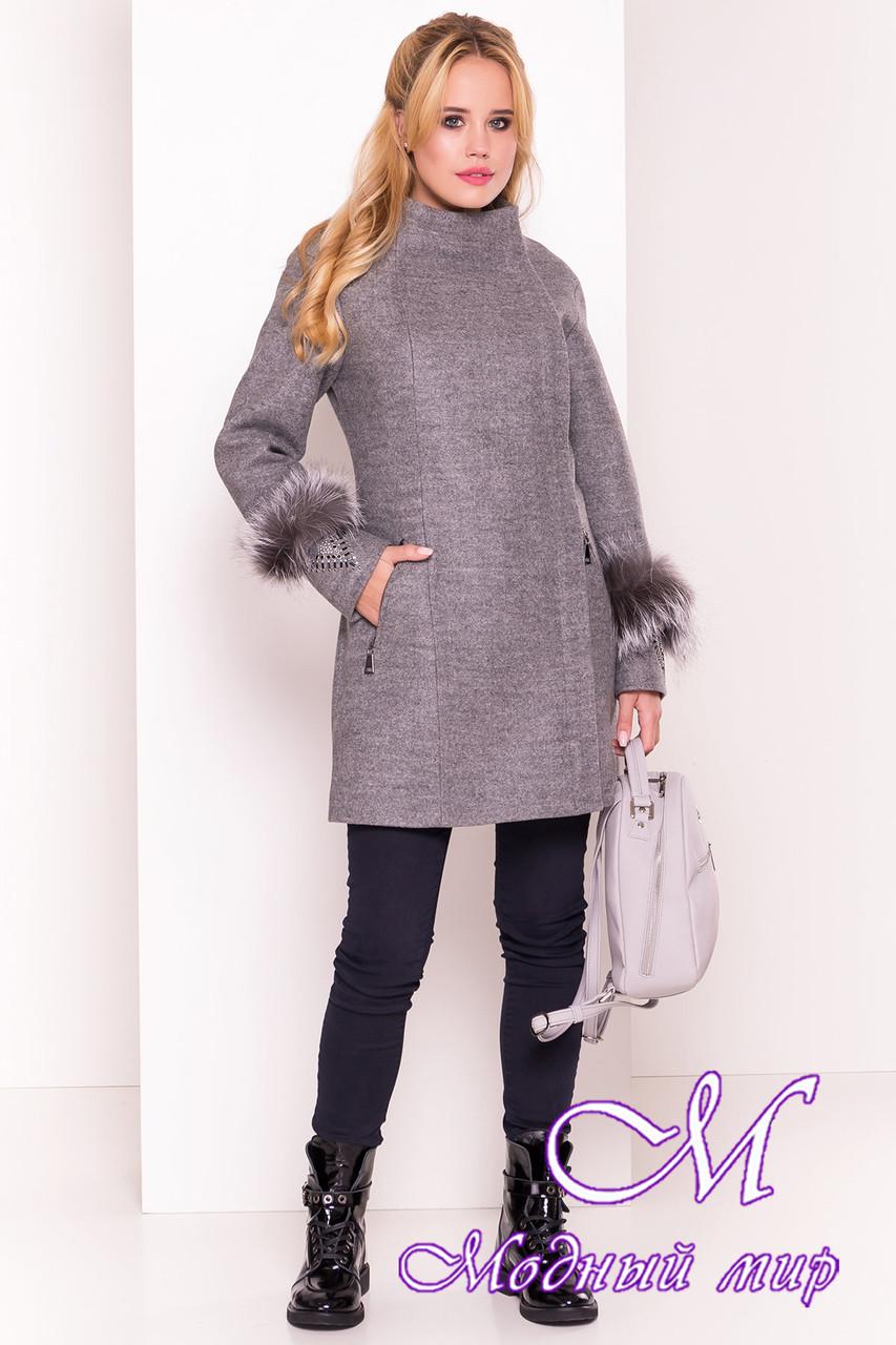 Кашемировое женское пальто весна-осень (р. S, M, L) арт. Лорин 4478 - 21397