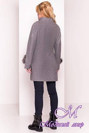 Кашемировое женское пальто весна-осень (р. S, M, L) арт. Лорин 4478 - 21397, фото 2