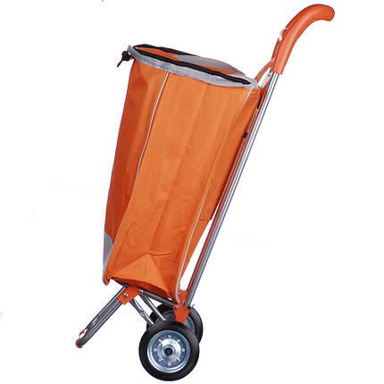 Тачка сумка с колесиками кравчучка металл 94см MH-2079 Orange, фото 2