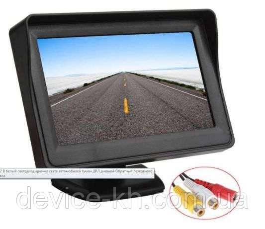 Дисплей LCD 4.3'' для двух камер 043, монитор для камеры заднего вида