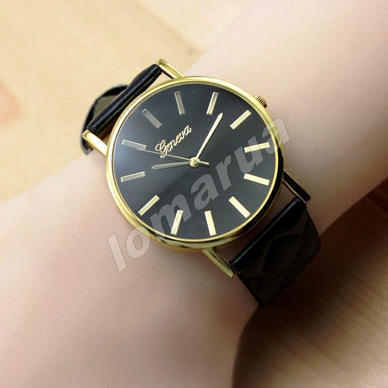 Женские часы Geneva Quartz Black