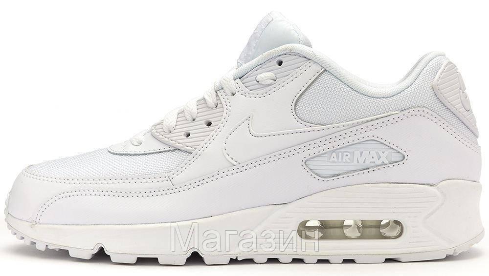 7d719f92578e Женские кроссовки Nike Air Max 90 Essential White Найк Аир Макс 90 белые