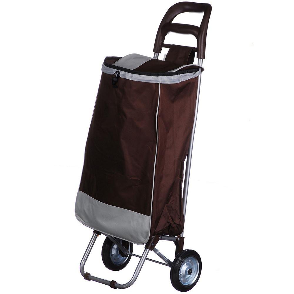 Тачка сумка с колесиками кравчучка металл 94см MH-2079 Brown