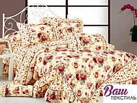 Семейный комплект постельного белья с оборками Word of Dream 056 премиум сатин