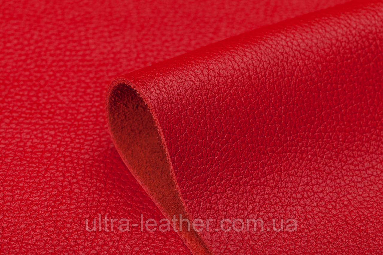 Натуральная кожа  ФЛОТАР красный, 580 (18-1551)