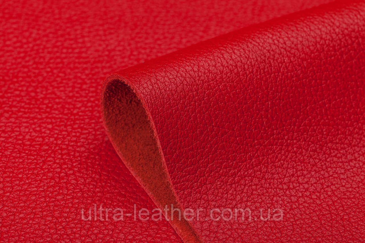 Натуральная кожа  ФЛОТАР красный, 580 (18-1551), фото 1