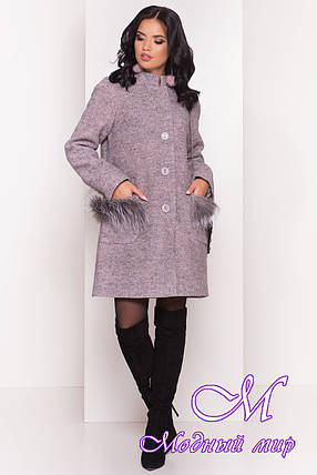 Элегантное женское пальто осень весна (р. S, M, L) арт. Этель 4369 - 21056, фото 2