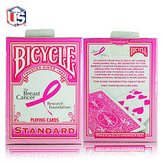 Карты игральные | Bicycle Pink Ribbon Deck by US Playing Cards