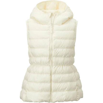 Жилетка Uniqlo girls light warm padded White, фото 2