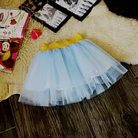 Нарядная фатиновая голубая юбка Five Stars U0116-116p