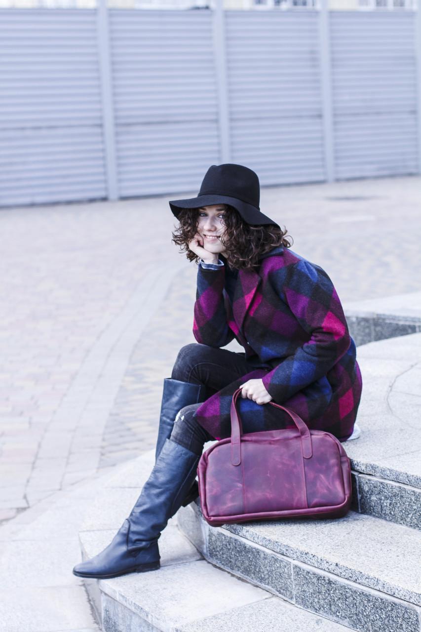 Вместительная дорожная сумка мужская, большая кожаная сумка Фиолетовый 2