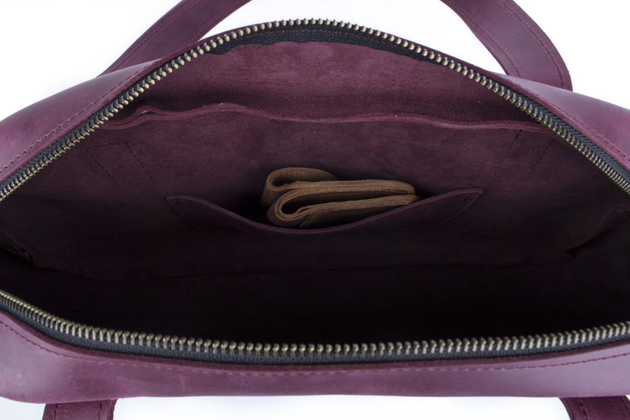 Вместительная дорожная сумка мужская, большая кожаная сумка Фиолетовый 3