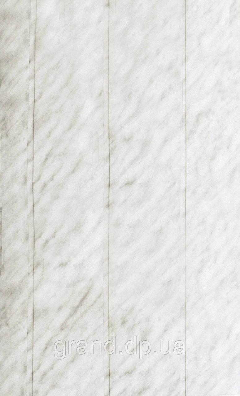 Стеновая ламинированная панель МДФ Омис, коллекция Стандарт 148мм*5,5мм*2600мм цвет мрамор