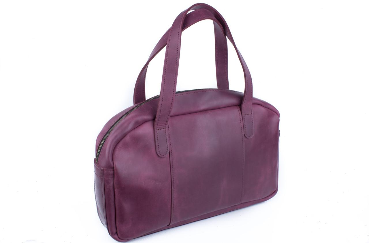 Вместительная дорожная сумка мужская, большая кожаная сумка Фиолетовый 4