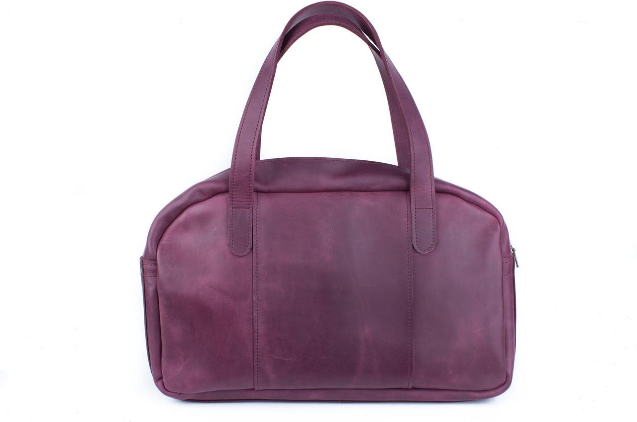 Вместительная дорожная сумка мужская, большая кожаная сумка Фиолетовый 5