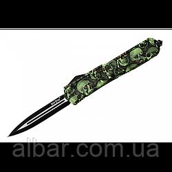 Нож выкидной, надежная автоматика+чехол из ткани