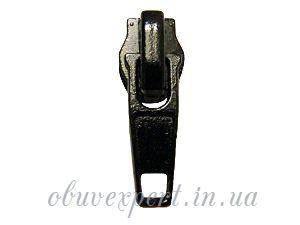 Бегунок обувной  Т-5 на спираль  с фиксатором Черный, фото 2