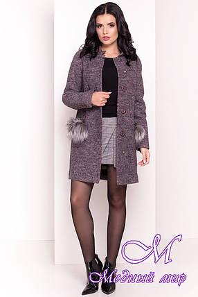 Стильное демисезонное женское пальто (р. S, M, L) арт. Этель 4369 - 21055, фото 2