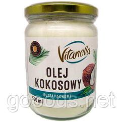 Кокосовое масло рафинированное Vitanella 500мл Польша