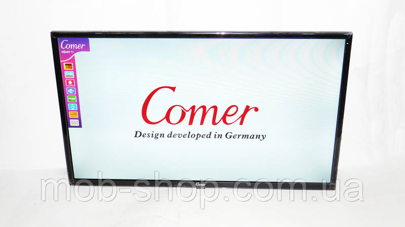 """LCD LED Телевизор Comer 32"""" Smart TV+WiFi+T2, HDMI, Android 4.4"""