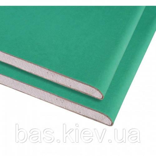 KNAUF Гипсокартон стеновой влагостойкий   2000х1200х12.5 мм