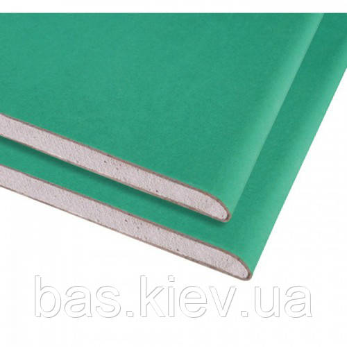KNAUF Гипсокартон стеновой влагостойкий 3000Х1200 х12.5 мм