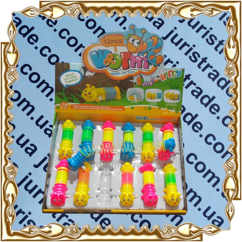 Заводная игрушка Гусеница 12 см. с пружинкой, 12 шт LY2018С