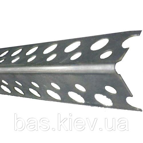 Профіль кутовий перфорований алюмінієвий (0,3) 2,5м, 20х20 Україна