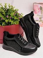 Женские кроссовки черного цвета 25954, фото 1
