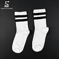 Длинные носки SOX белые с чёрной полоской