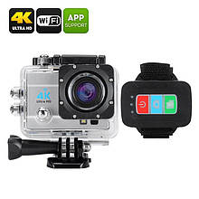 Екшн-камера Q3H з кріпленням і чохлом IP68 – 4К, 16 Мп, 4хZoom, огляд 170 градусів, ЖК-екран