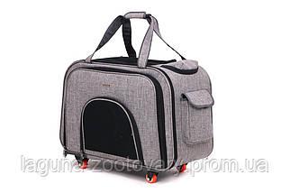 Кейс-переноска 60х32х46см для собак и котов ДоДо Пет Спейс Грей, серый, фото 3