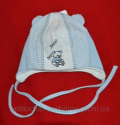 """Шапка для новорожденного мальчика """"Сладкий мишка"""" (Marika, Польша)"""