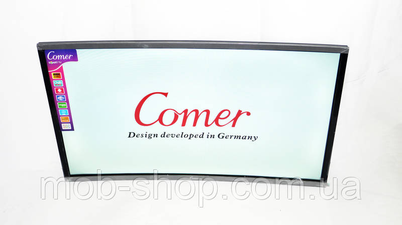 "LCD LED Телевизор Comer 32"" Изогнутый Smart TV, WiFi+T2, HDMI, Android 4.4"