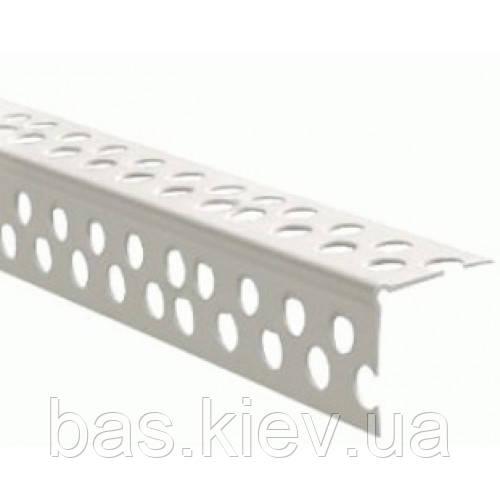 Профиль угловой, перфорированный, пластиковый , 3м