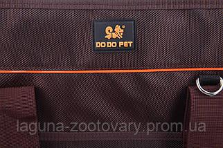 Сумка переноска для собак и котов Do do pet, Classik Brown, коричневый, фото 3