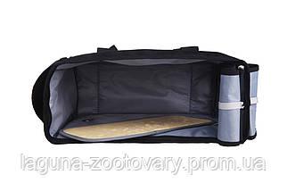 Сумка переноска 39х18х29см для собак и котов до 4кг Do do pet, Classik Black, черный, фото 3