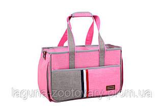 Сумка переноска для собак и котов Do do pet, Denim pink, розовый, фото 2