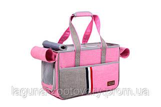 Сумка переноска для собак і котів Do do pet, Denim pink, рожевий, фото 3