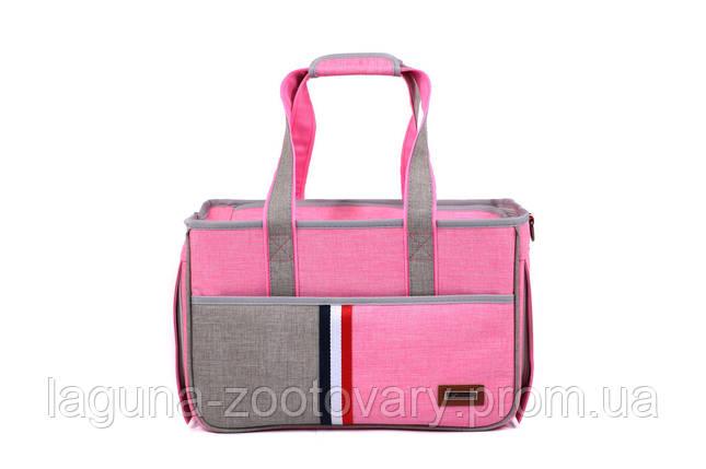 Сумка переноска для собак и котов Do do pet, Denim pink, розовый L, фото 2